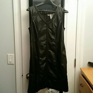 Max Studio black leather dress